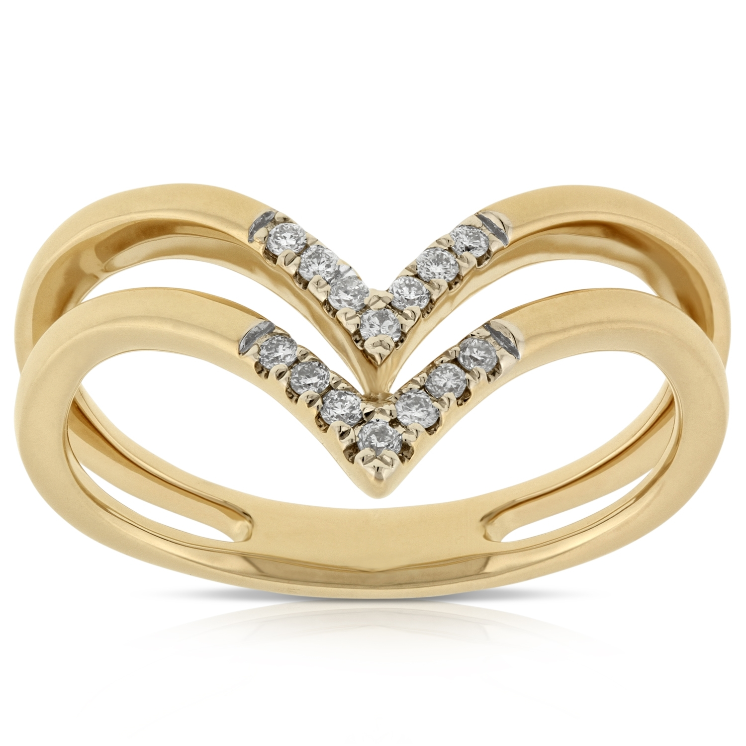 Double Chevron Diamond Ring 14K | Ben Bridge Jeweler Throughout Most Popular Diamond Chevron Rings (View 10 of 15)
