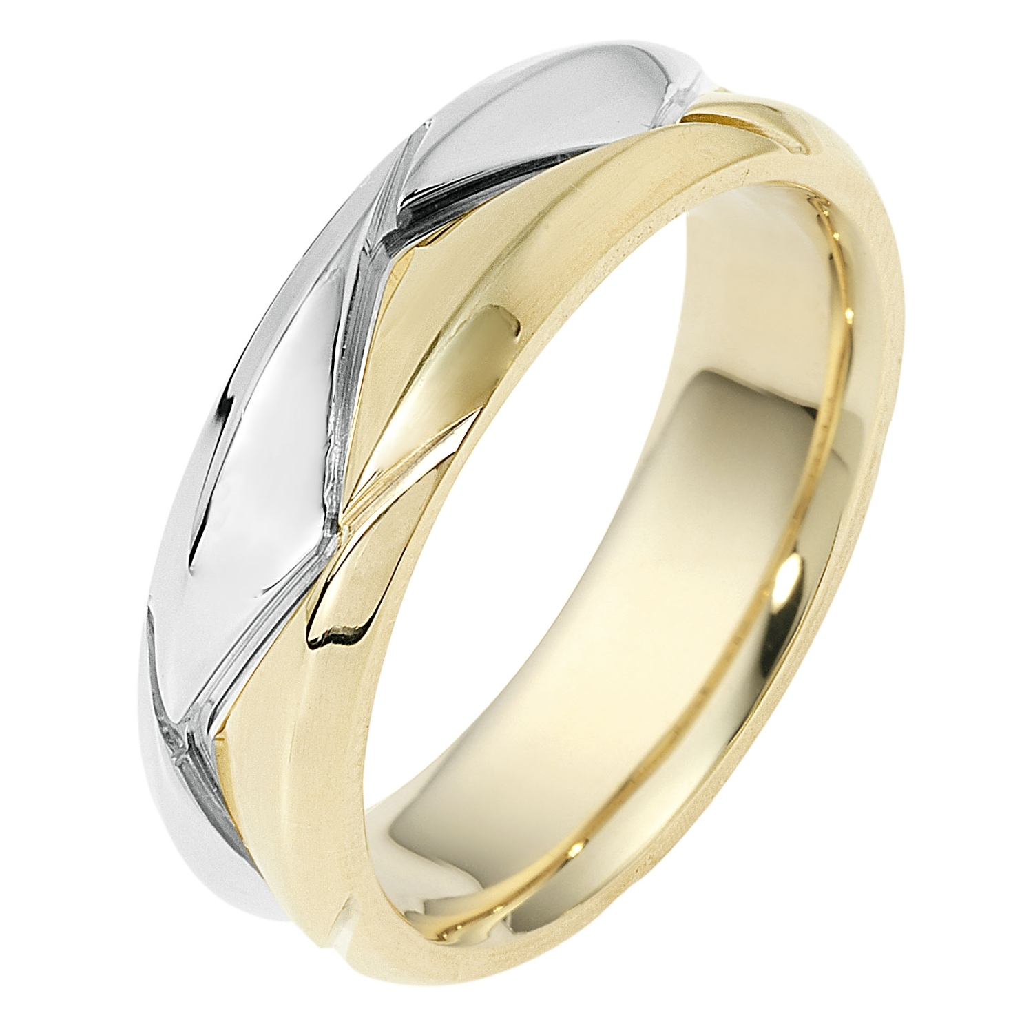 Double Chevron Two Tone Band | Indianapolis Men's Rings For Current Men's Chevron Rings (View 10 of 15)