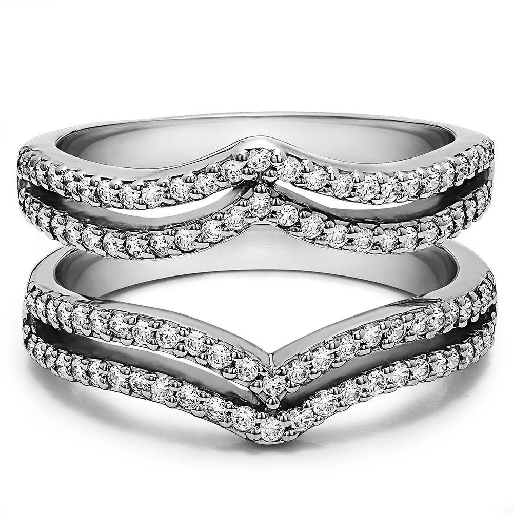 Double Row Chevron Style Ring Guard ( (View 9 of 15)