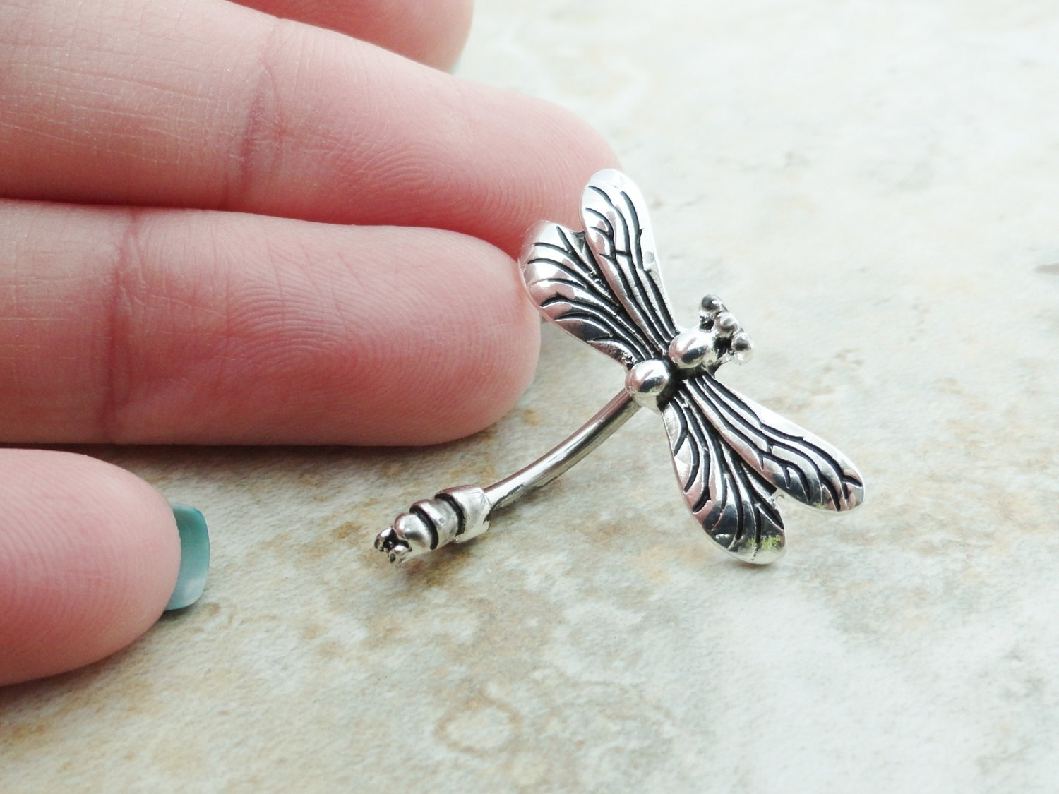 Dragonfly Belly Button Jewelry Ring Innoutmidnightsmojo Intended For Most Recent Chevron Belly Button Rings (View 7 of 15)