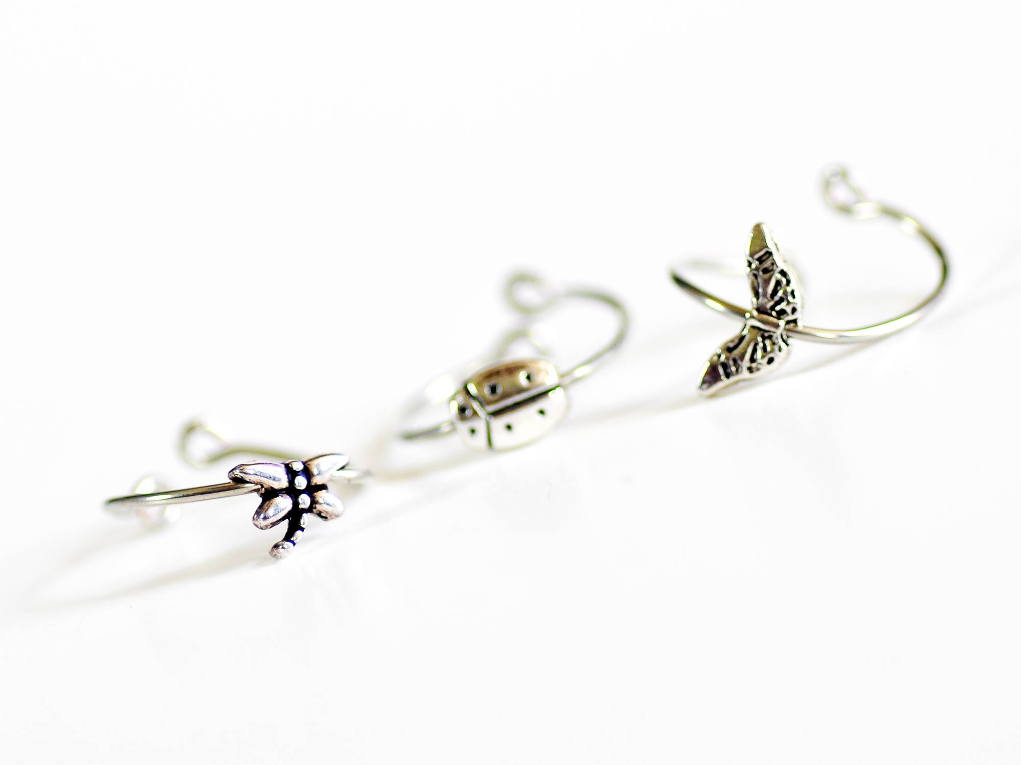 Dragonfly Butterfly Ladybug Adjustable Wire Toe Rings Foot Inside 2017 Ladybug Toe Rings (View 8 of 15)