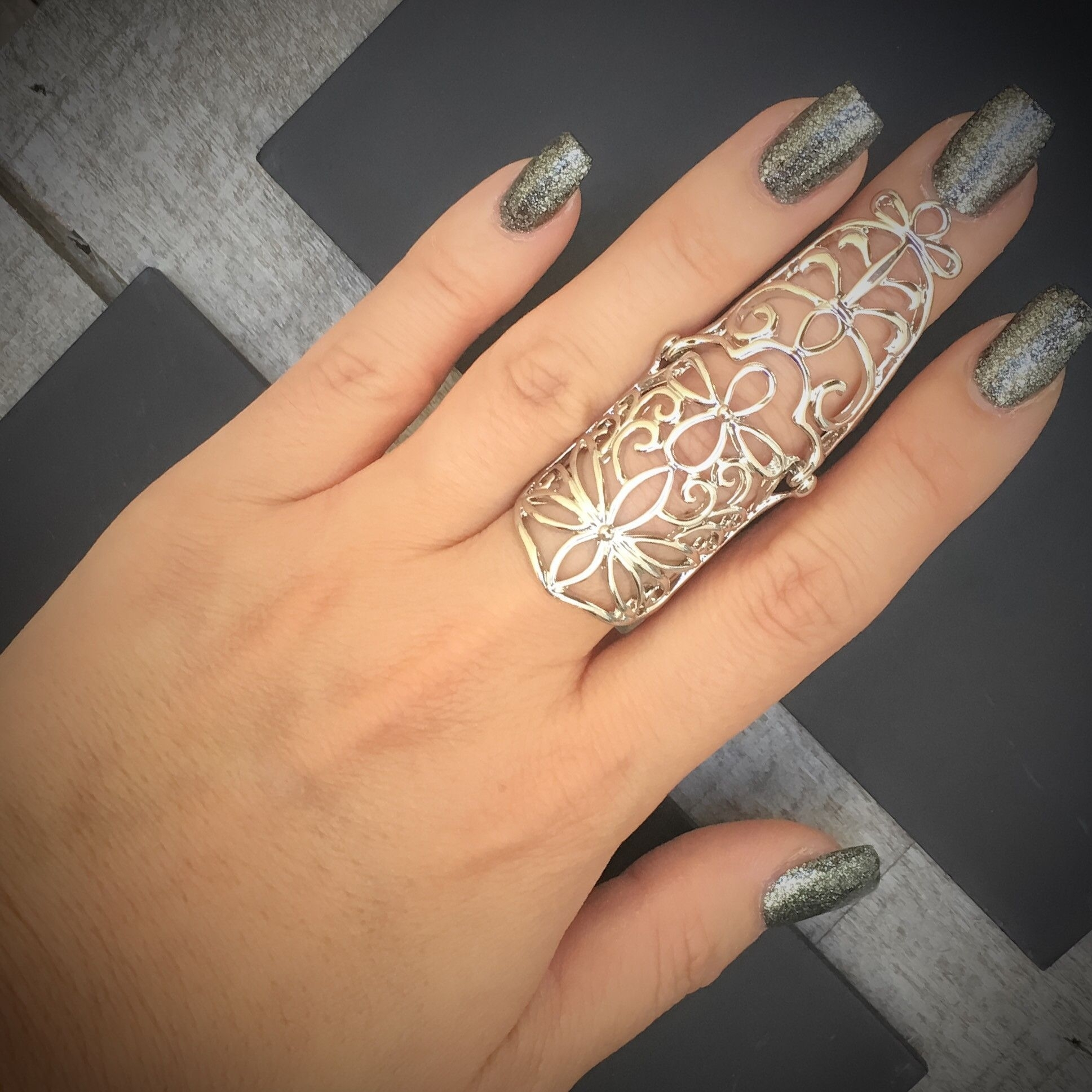 Elven Design Knuckle Ring | Knuckle Rings, Ethereal And Floral With Best And Newest Diy Chevron Knuckle Rings (View 8 of 15)