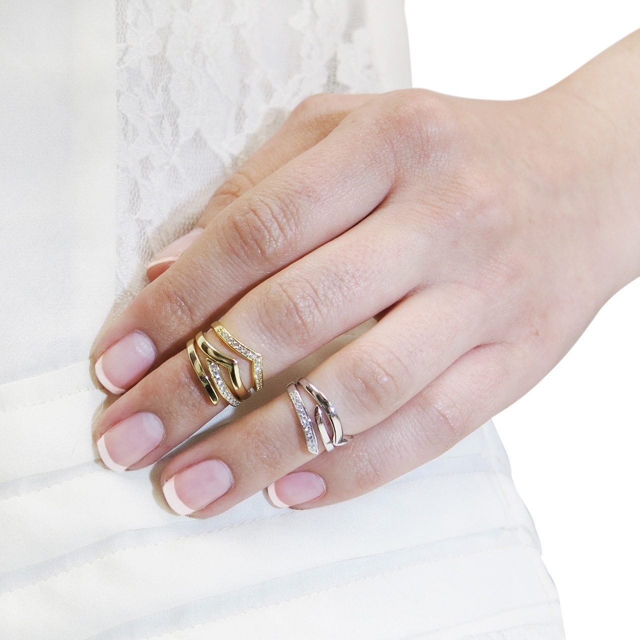 Eternally Haute Sterling Silver Chevron Midi Knuckle Rings – Free Throughout Recent Chevron Midi Rings Sets (View 5 of 15)