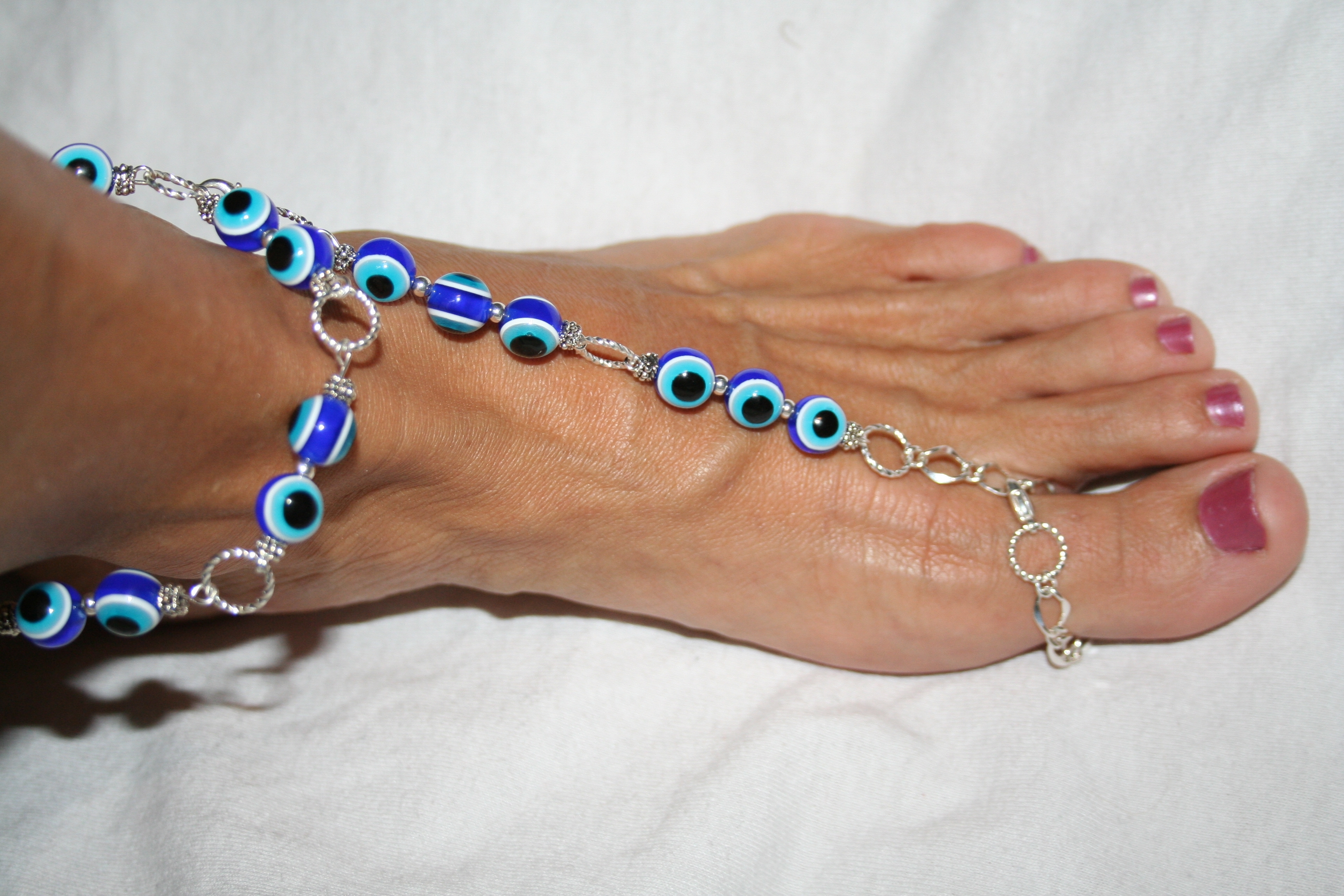 slave ankle qyrj diamond bracelets custom anklet sandals magenta listing gold foot barefoot fullxfull and il zoom
