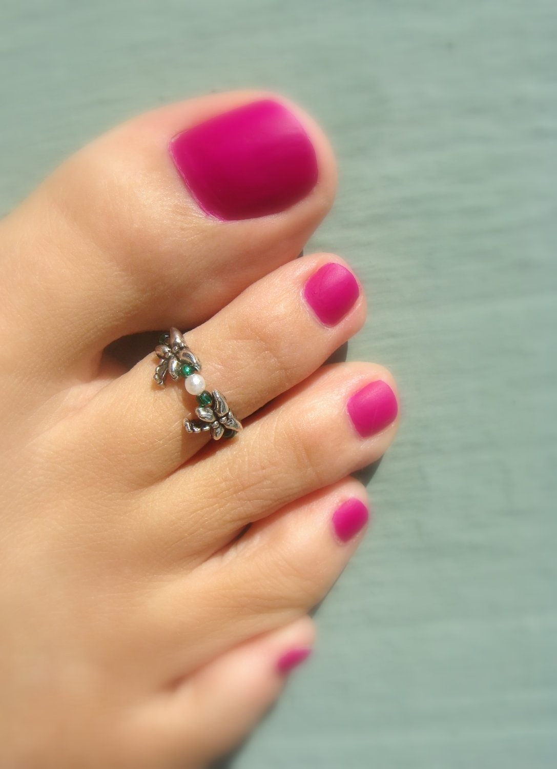 Fall Sale Toe Ring Silver Dragonfliesfancyfeetboutique, $ (View 5 of 15)