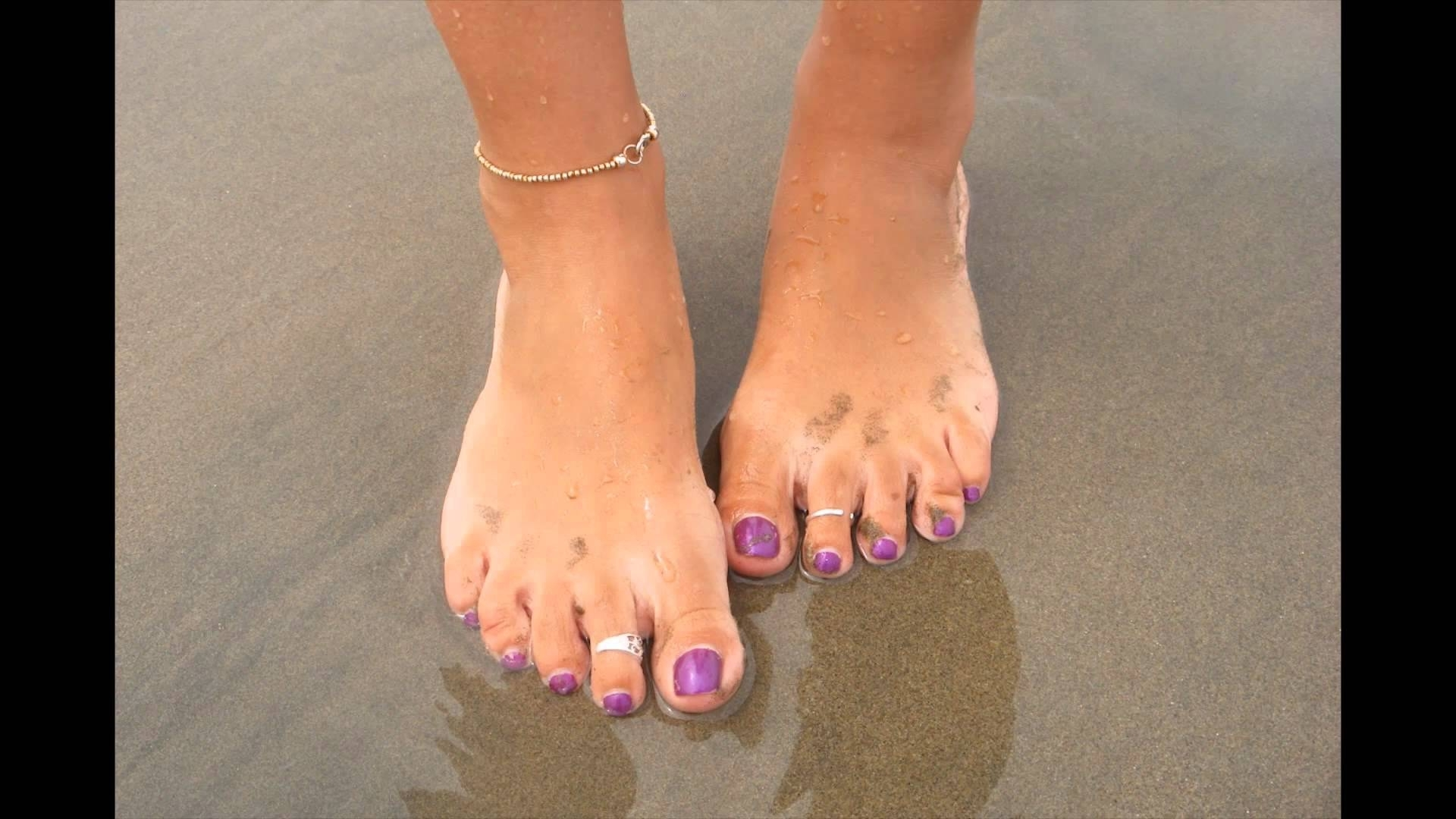 Girl Feet With Silver Toe Rings – Youtube With Most Recently Released Toe Rings For Women (View 4 of 15)