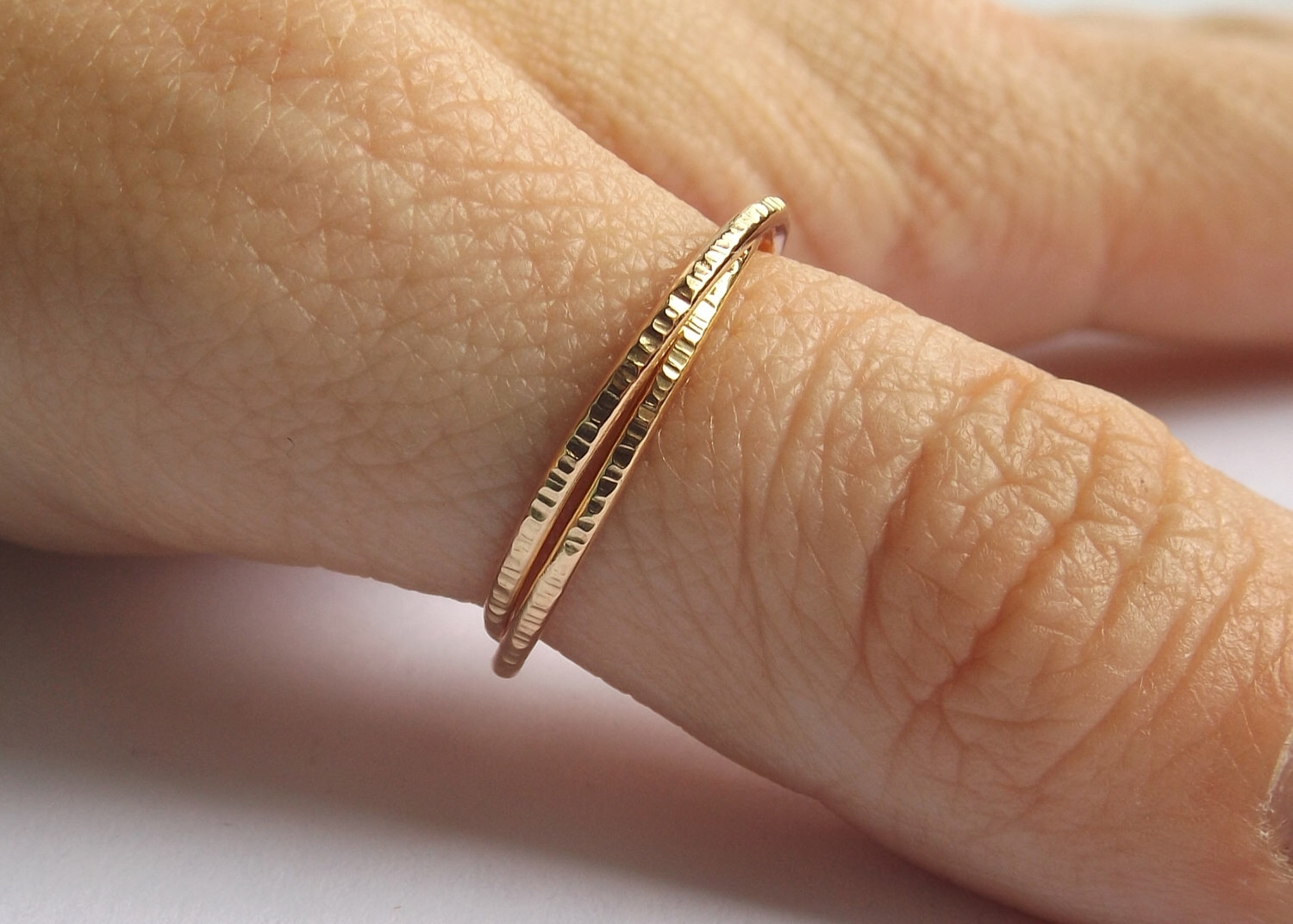 Gold Interlocking Thumb Rings,thumb Rings,gold Thumb Ring,textured Within Most Up To Date Chevron Thumb Rings (View 10 of 15)
