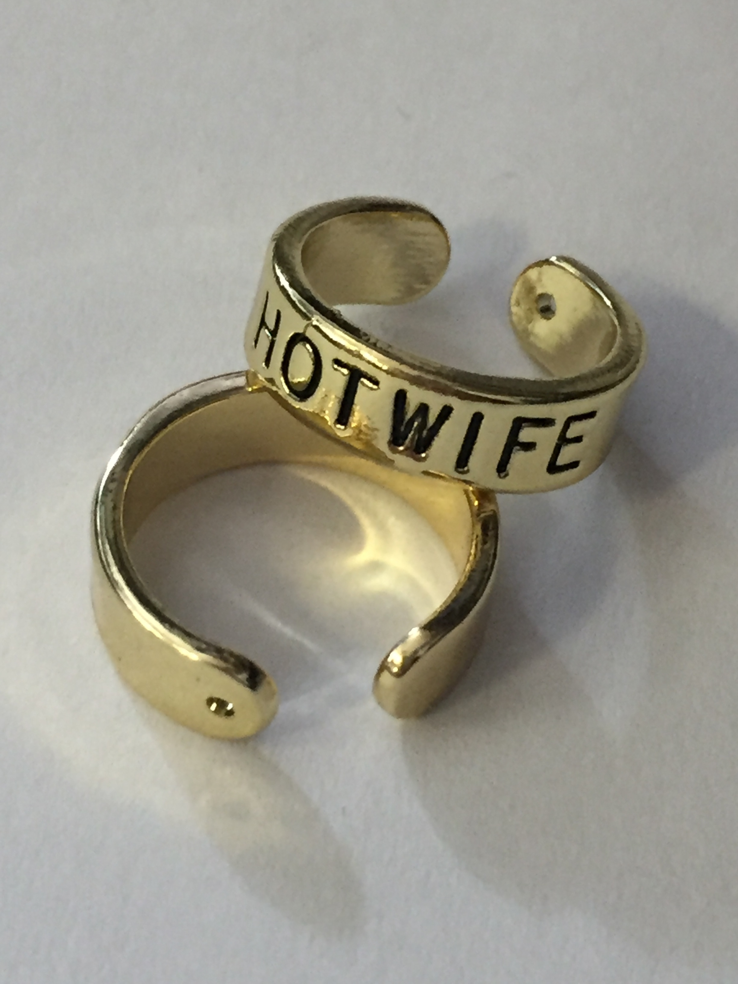 Gold Slut, Whore, Bbc, Hotwife Or Qos Toe Ring, Swinger Jewelry Within Latest Toe Rings With Bells (View 5 of 15)