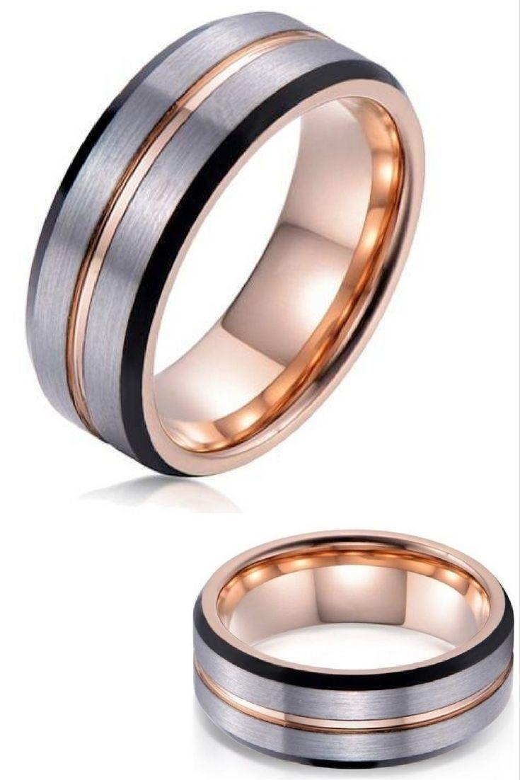 Handmade Wedding Ring Original Mens 8mm Tungsten Carbide Wedding Pertaining To 2018 Men's Chevron Rings (View 3 of 15)