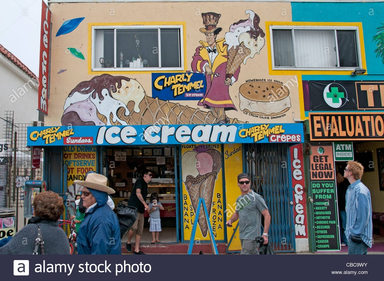 Ice Cream Venice Beach California United States Boardwalk Stock Regarding Recent Venice Beach Toe Rings (View 7 of 15)