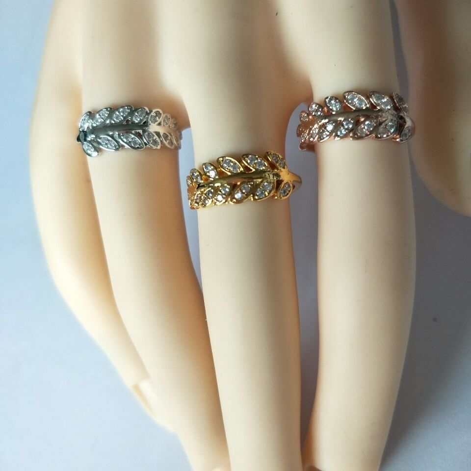 Icftzwe Minimalist Anel Gold Colour Toe Rings Cz Leaf Ring For Inside Most Up To Date Rose Gold Toe Rings (Gallery 12 of 15)