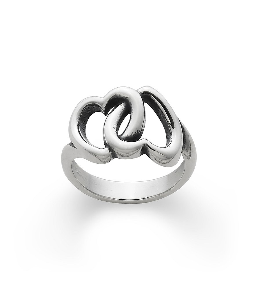 James Avery Linked Hearts Ring | Dillards Pertaining To Current James Avery Toe Rings (Gallery 1 of 15)