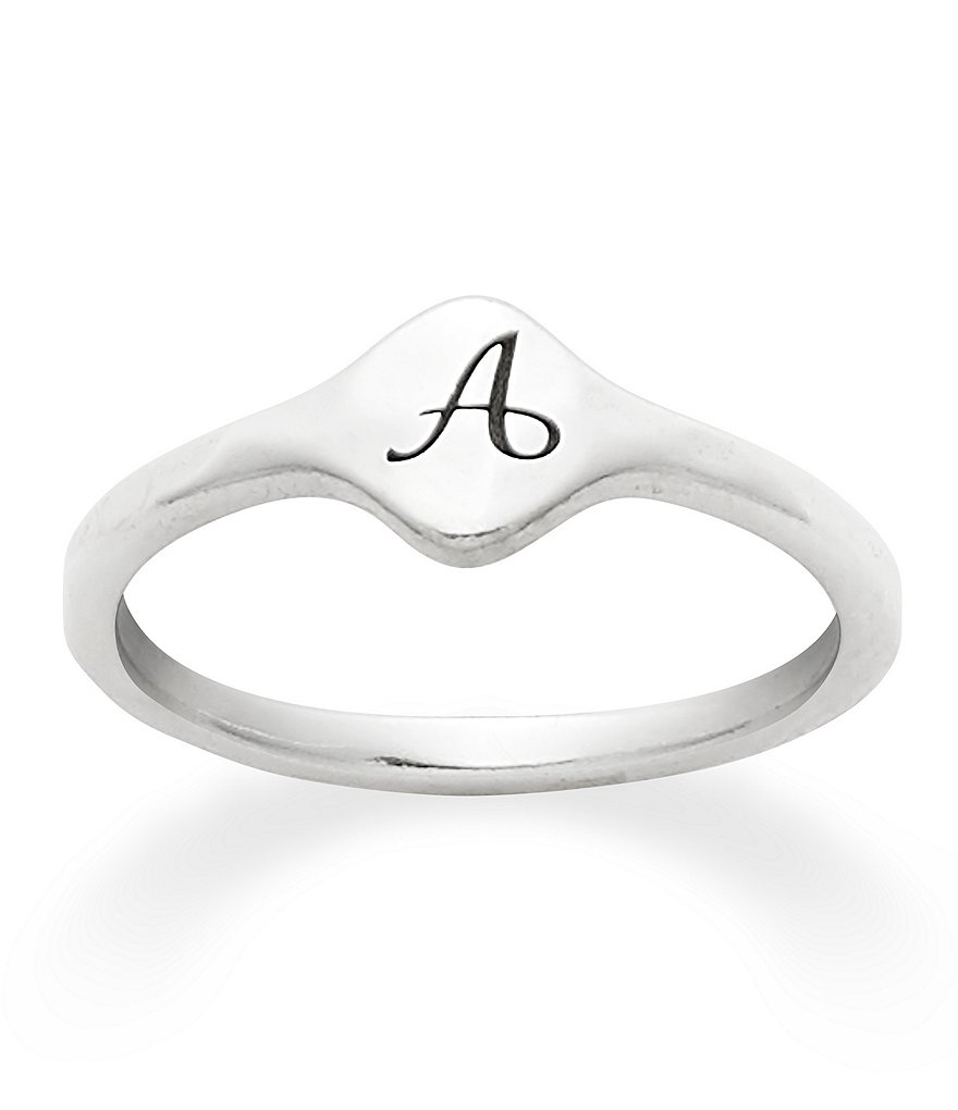 James Avery Petite Signet Initial Ring | Dillards For 2018 James Avery Toe Rings (View 10 of 15)
