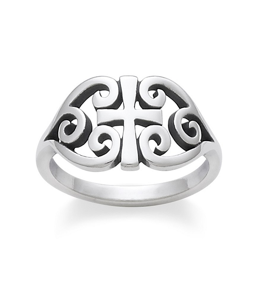 James Avery Sterling Silver Scroll Cross Ring | Dillards With Best And Newest James Avery Toe Rings (Gallery 8 of 15)