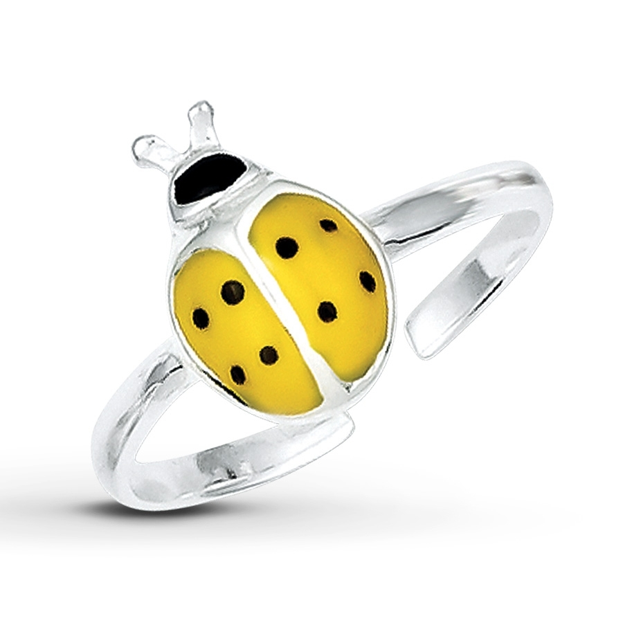 Jared – Ladybug Toe Ring Yellow/black Enamel Sterling Silver Throughout 2017 Ladybug Toe Rings (Gallery 6 of 15)