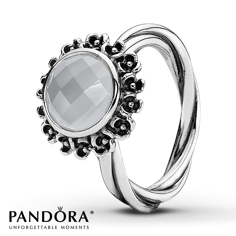 Jared – Pandora Retired Ring Gray Moonstone Sterling Silver For Most Up To Date Pandora Toe Rings (View 11 of 15)