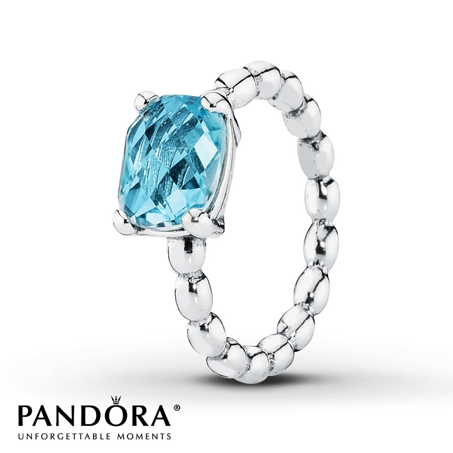 Jared – Pandora Ring Blue Topaz Sterling Silver In Recent Pandora Toe Rings Jewellery (View 5 of 15)