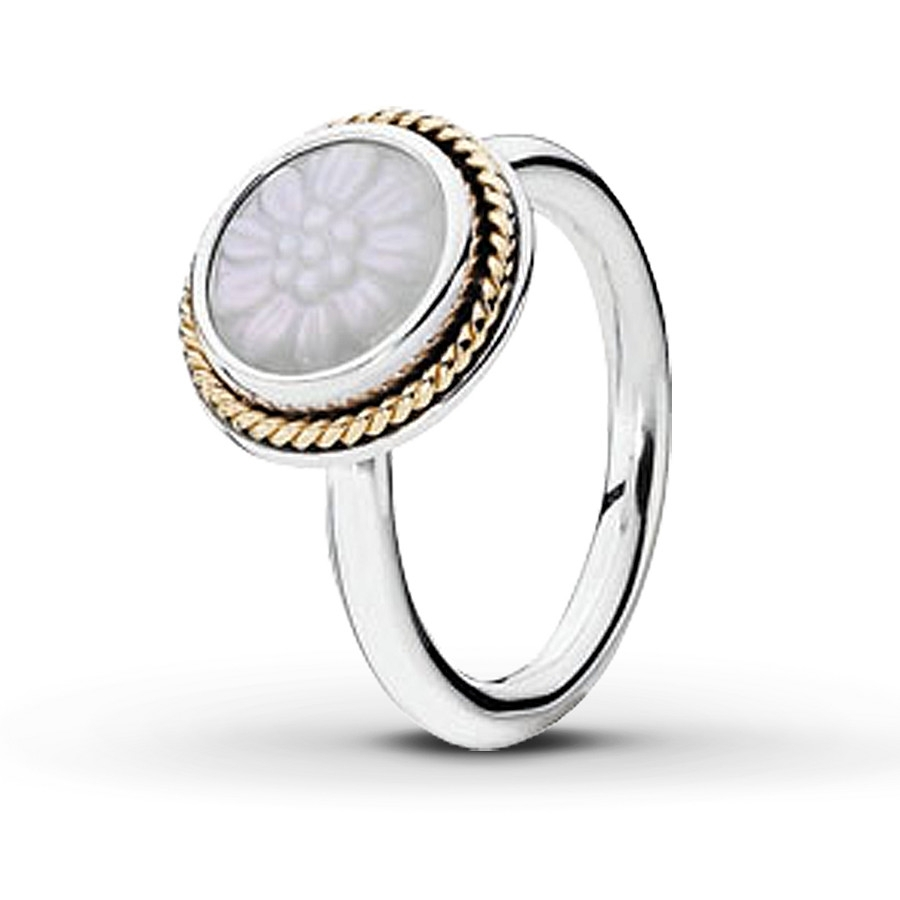 Jared – Pandora Ring Mother Of Pearl Sterling Silver Regarding Most Current Pandora Toe Rings (View 7 of 15)