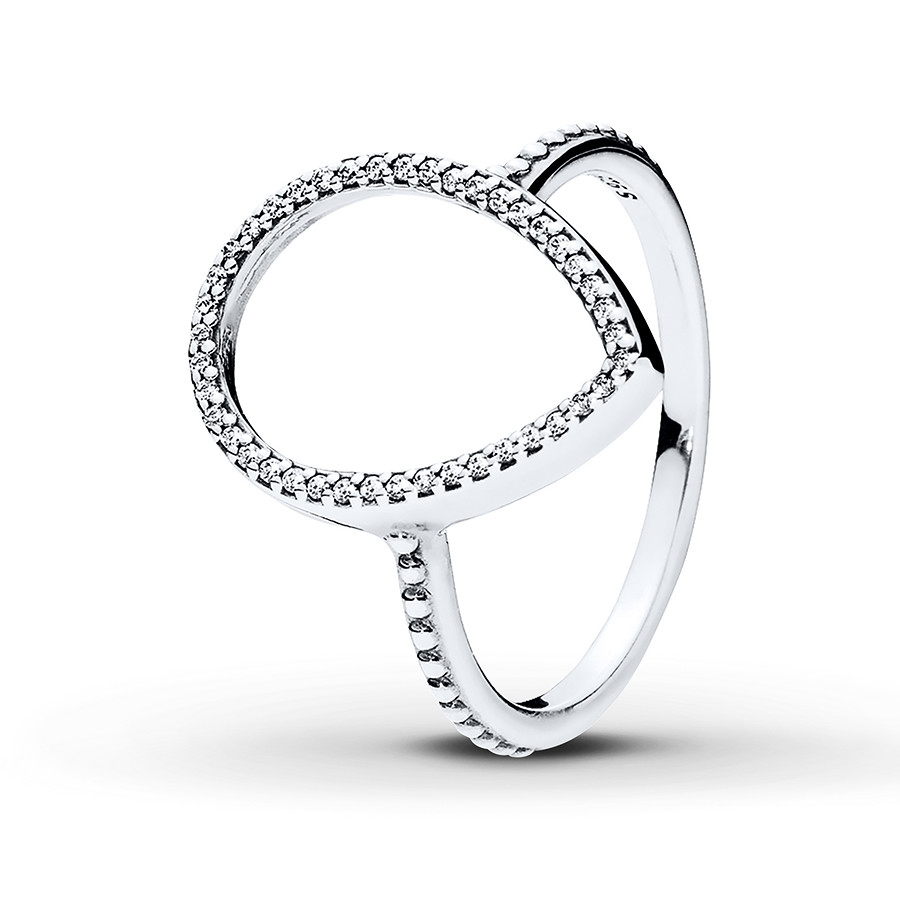 Jared – Pandora Ring Teardrop Silhouette Sterling Silver Inside 2017 Pandora Toe Rings (Gallery 13 of 15)