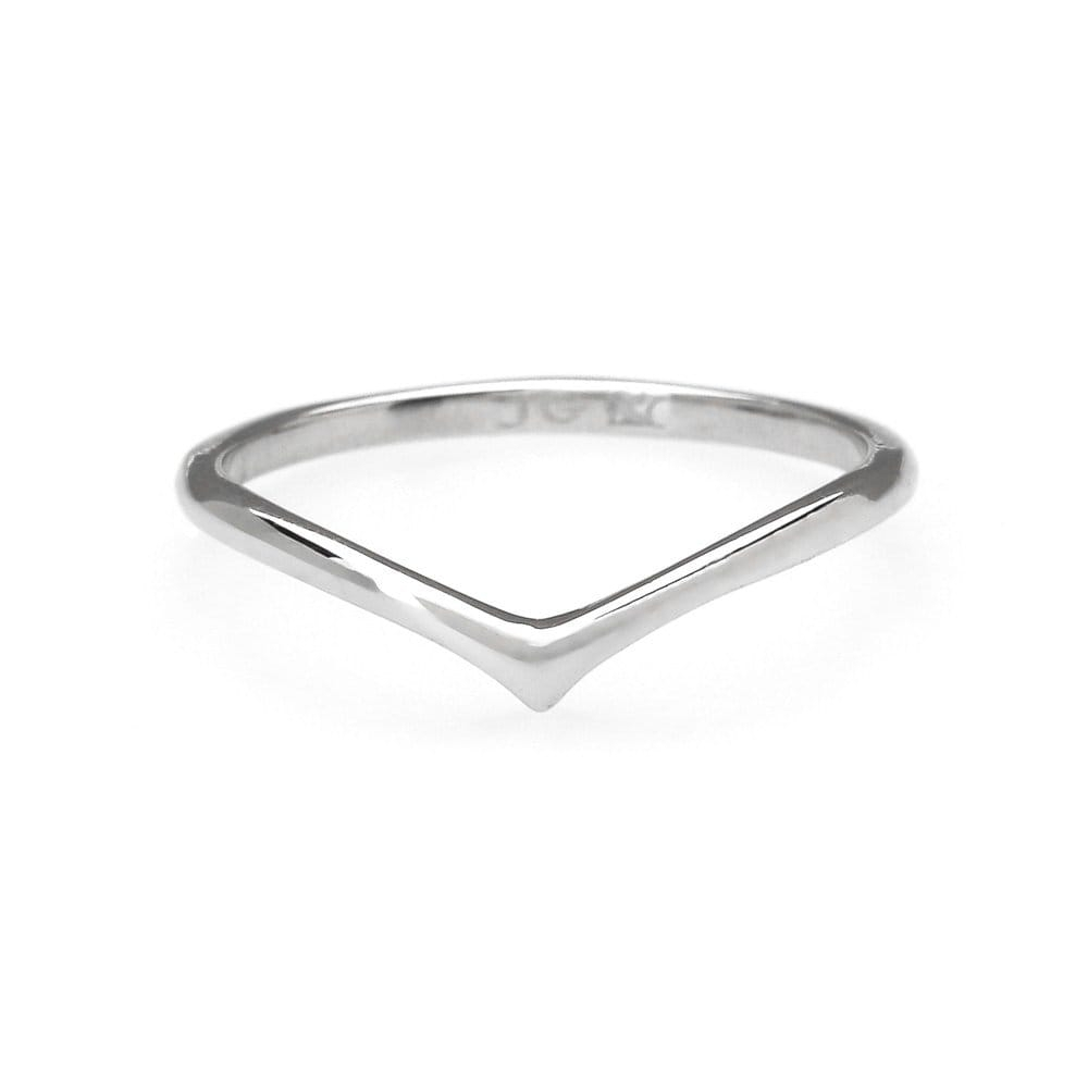 John Greed Chevron Rhodium Plated Sterling Silver Midi Ring | John In 2018 Sterling Silver Chevron Rings (View 6 of 15)