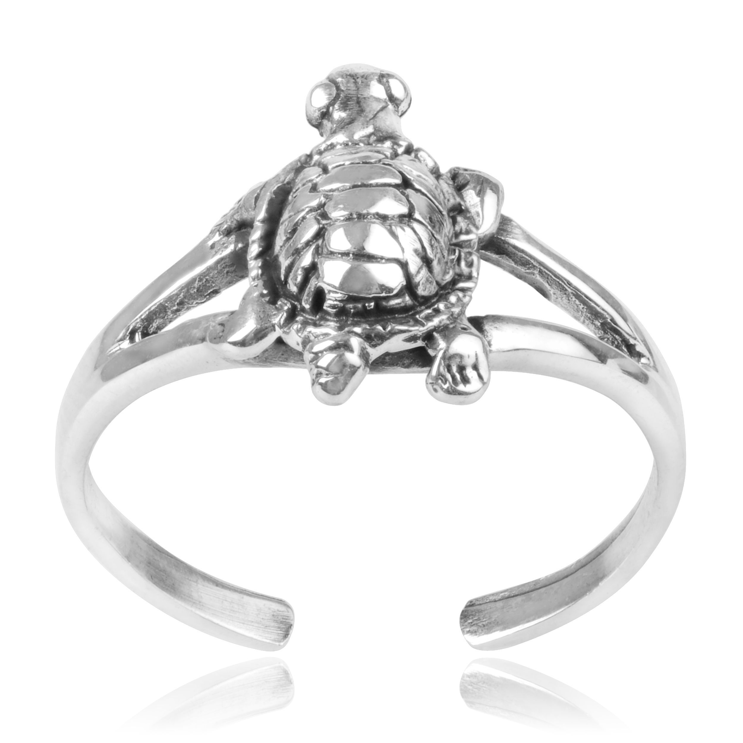 Journee Collection Sterling Turtle Toe Ring | Toe Rings Intended For 2018 Turtle Toe Rings (View 5 of 15)