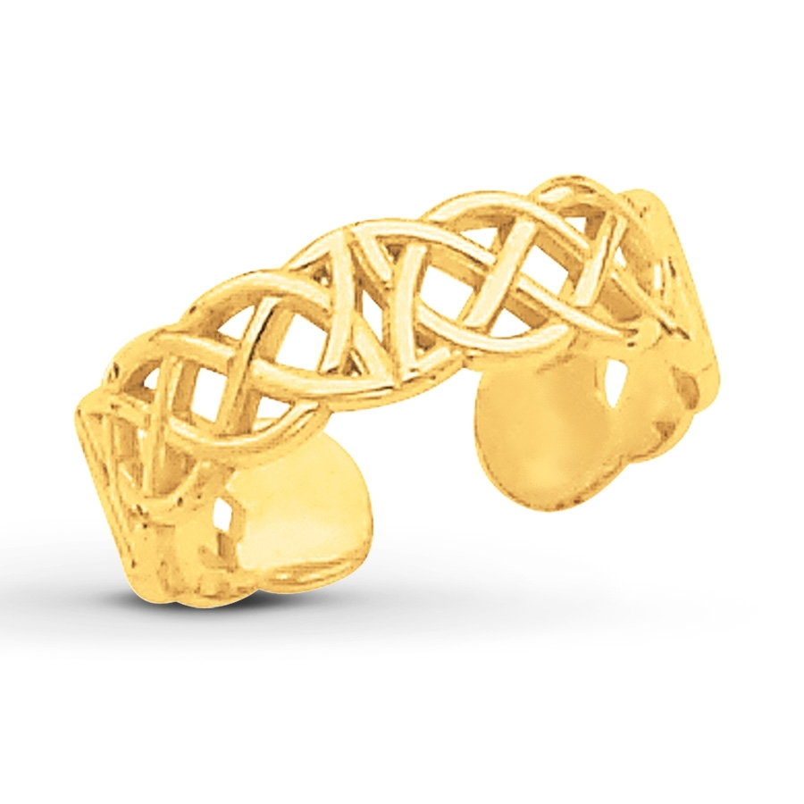 Kay – Celtic Knot Toe Ring 14K Yellow Gold For Best And Newest 14K Toe Rings (Gallery 1 of 25)