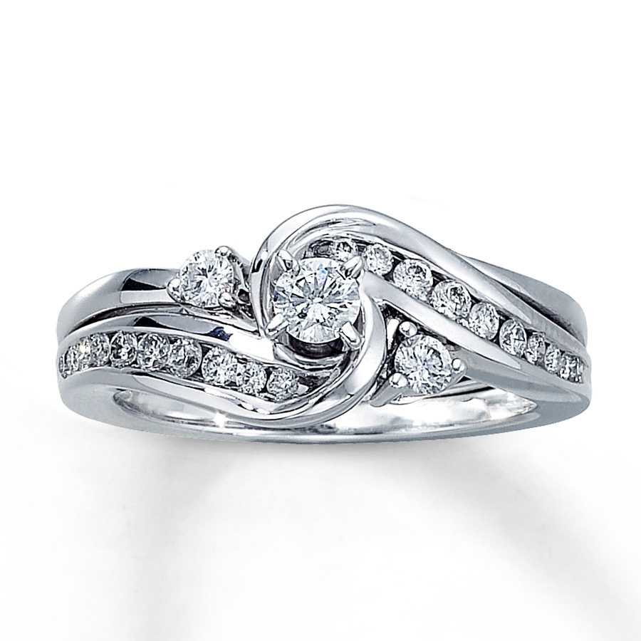 Kay – Diamond Bridal Set 1/2 Ct Tw Round Cut 14k White Gold Regarding Most Recent Kay Jewellers Toe Rings (View 6 of 15)