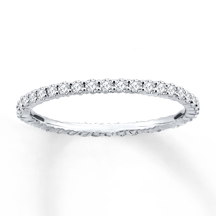 Kay – Diamond Eternity Ring 1/2 Ct Tw Round Cut 14K White Gold Pertaining To Most Recently Released Chevron Eternity Rings (View 7 of 15)