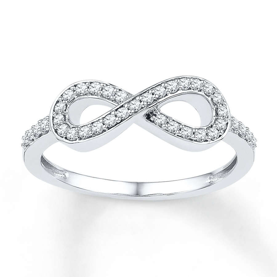 Kay – Diamond Infinity Ring 1/5 Ct Tw Round Cut Sterling Silver Inside Most Popular Kay Jewellers Toe Rings (View 3 of 15)