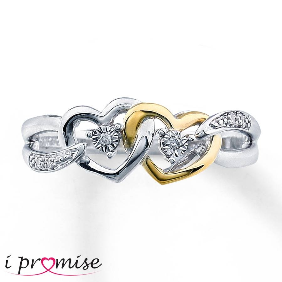 Kay – Diamond Promise Ring Sterling Silver/10K Gold Pertaining To Best And Newest 10K Gold Toe Rings (Gallery 25 of 25)
