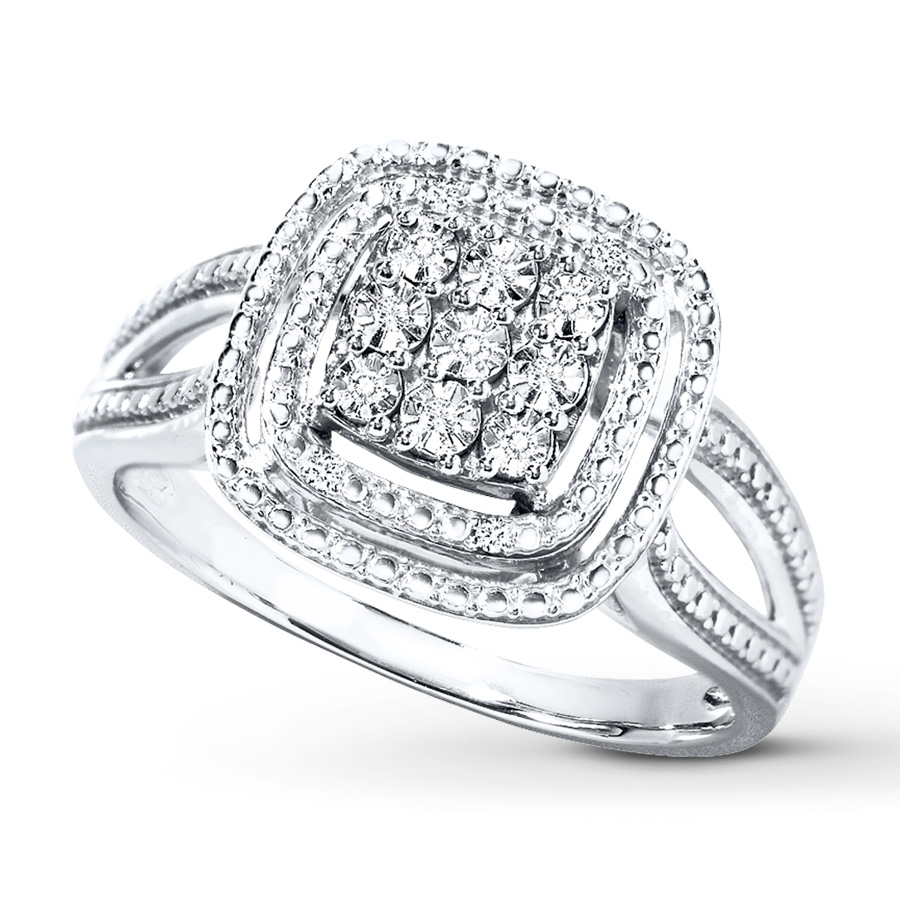 Kay – Diamond Ring Sterling Silver For Most Current Kay Jewellers Toe Rings (View 10 of 15)