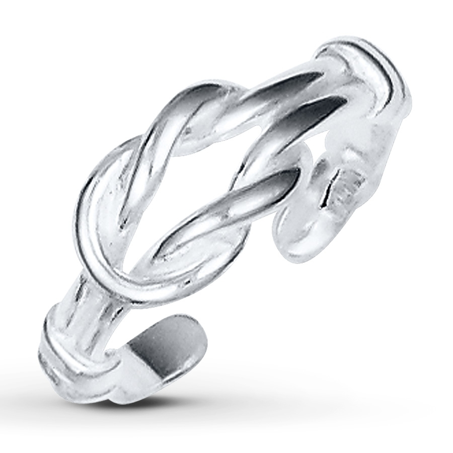 Kay – Love Knot Toe Ring Sterling Silver Within Most Up To Date Platinum Toe Rings (View 12 of 15)