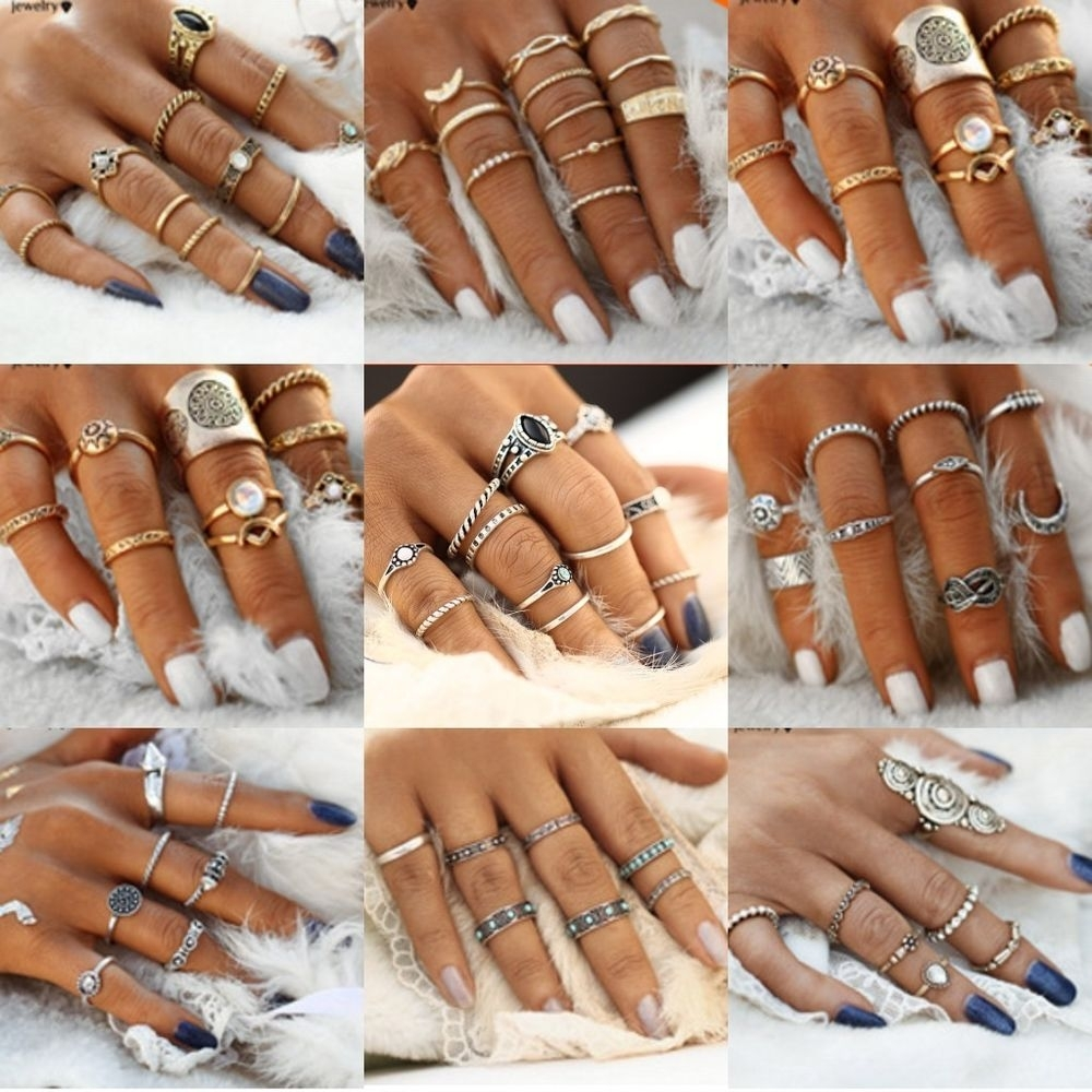 Knuckle Ring | Ebay Regarding Recent Chevron Midi Rings Sets (View 7 of 15)
