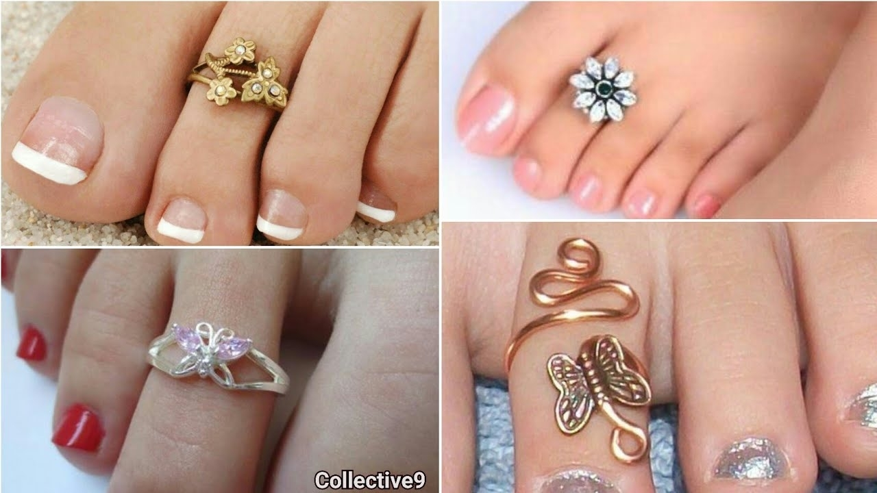 Latest Designer Toe Rings // Fashion Mettelu Designs – Youtube Intended For Recent Toe Rings By Melissa (View 4 of 15)