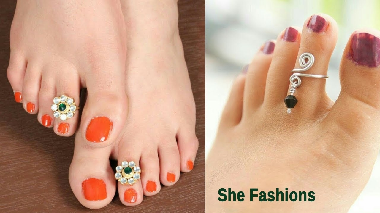 Latest Designer Toe Rings // She Fashions 2017 – Youtube Pertaining To Most Up To Date Cheap Toe Rings (View 7 of 15)
