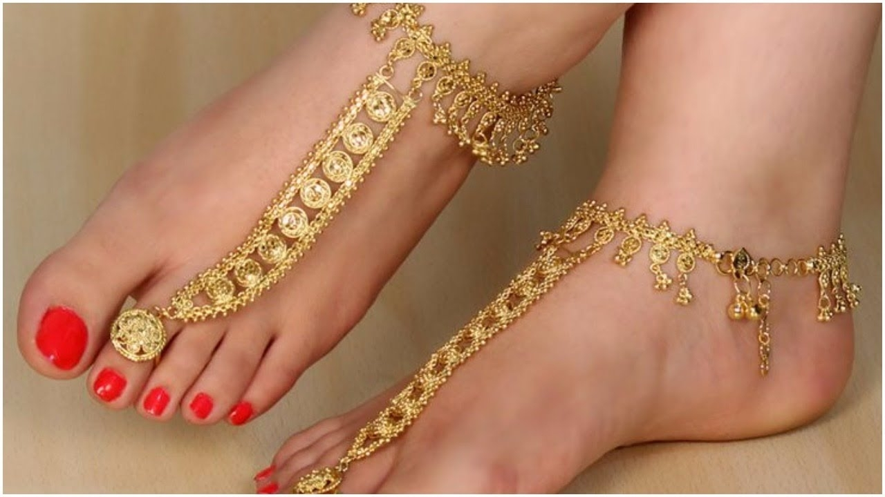 Latest Trendy Indian Gold Toe Rings Designs – Youtube With Most Popular Toe Rings By Melissa (View 7 of 15)