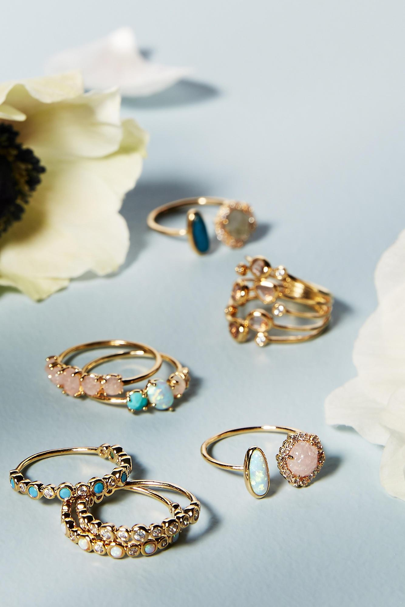 Lyst – Anthropologie Adelaide Ring In Blue Within Best And Newest Adelaide Toe Rings (View 8 of 15)