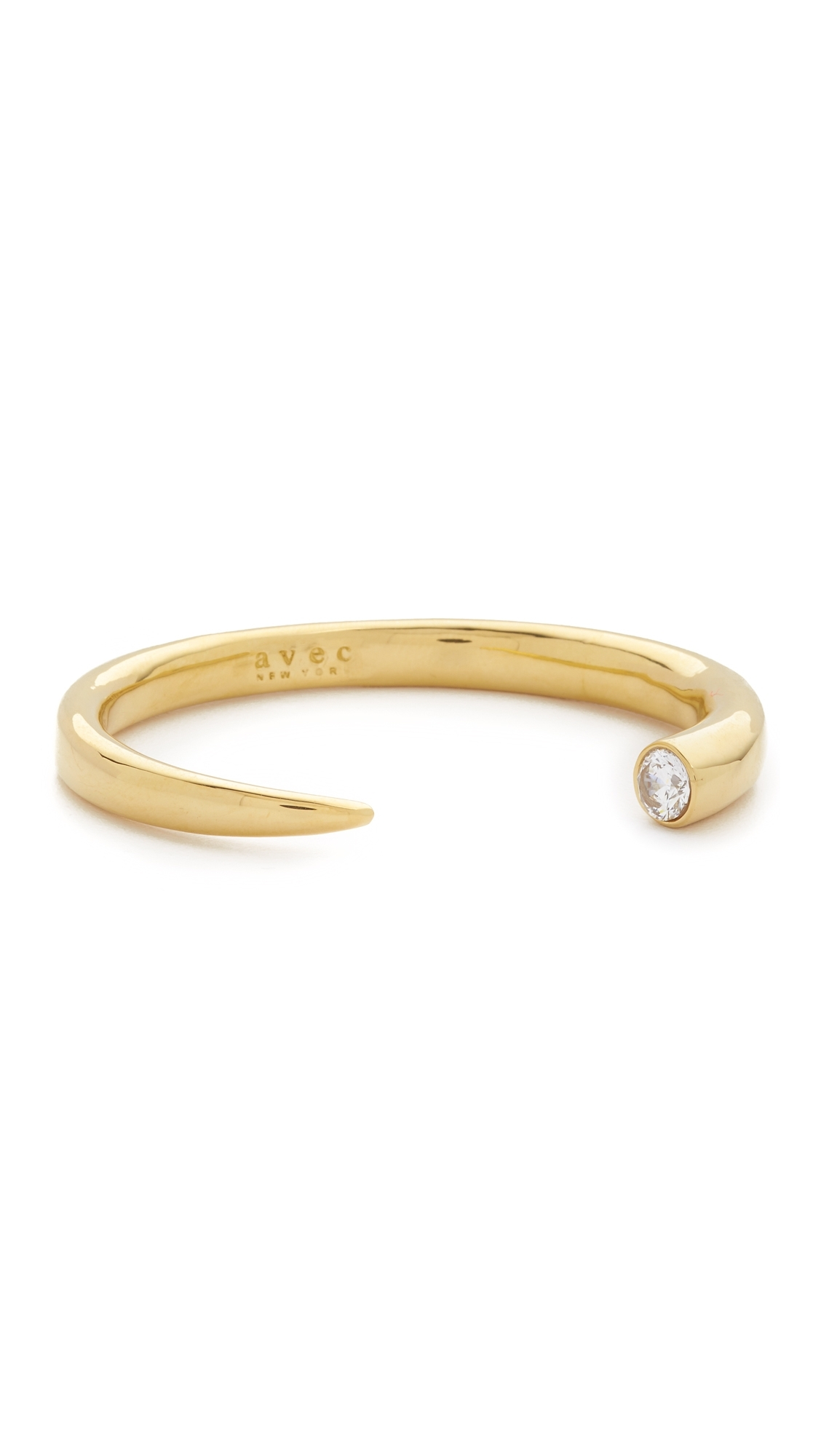 Lyst – Avec New York Open Horn Shaped Bangle In Metallic Throughout Most Popular 14K Gold Toe Rings (View 20 of 25)