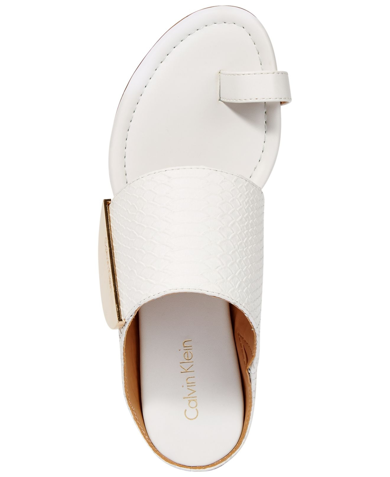 Lyst – Calvin Klein Women's Babel Toe Ring Sandals In White Inside Recent Macy's Toe Rings (View 5 of 15)
