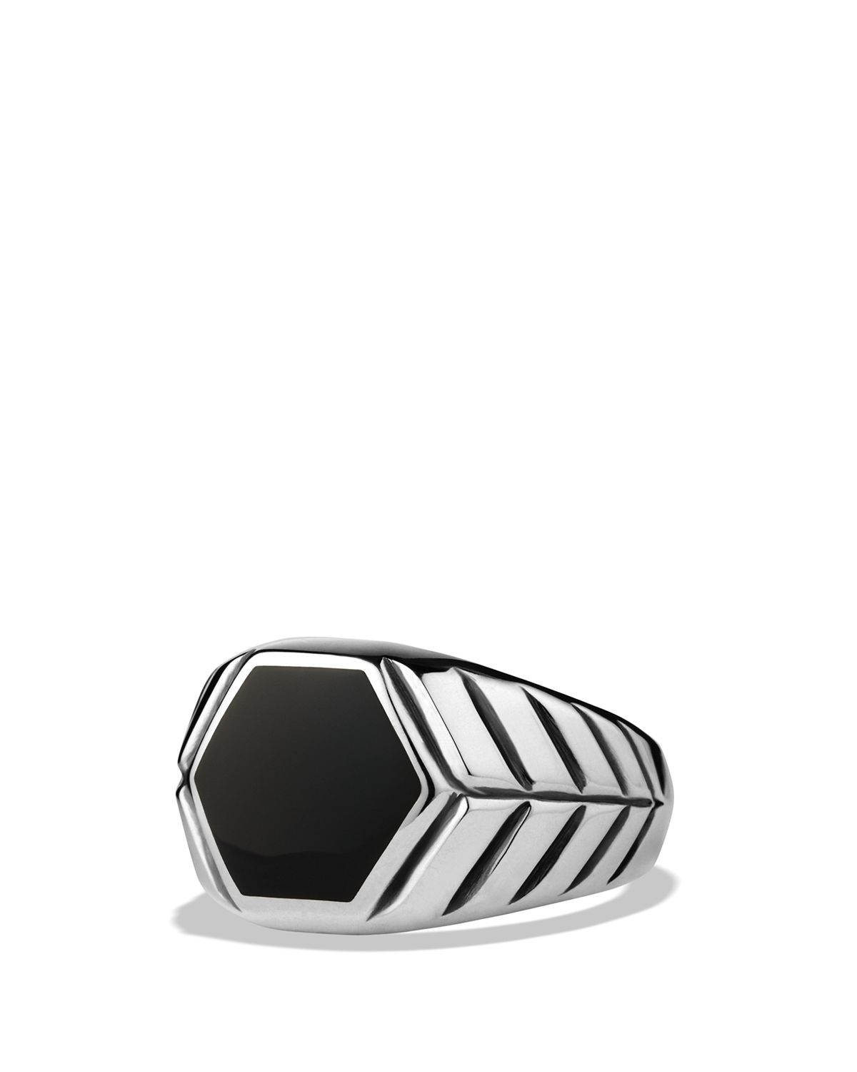 Lyst – David Yurman Modern Chevron Signet Ring With Black Onyx In Intended For Most Recent Chevron Signet Rings (Gallery 3 of 15)