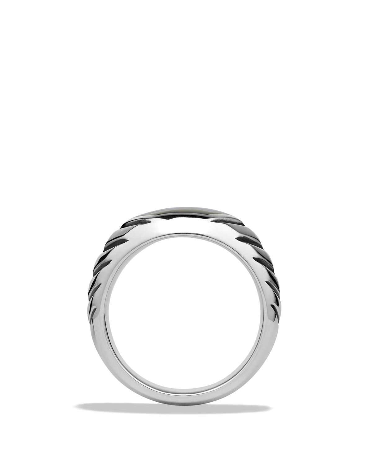 Lyst – David Yurman Modern Chevron Signet Ring With Black Onyx In With Regard To Most Up To Date Chevron Signet Rings (View 13 of 15)