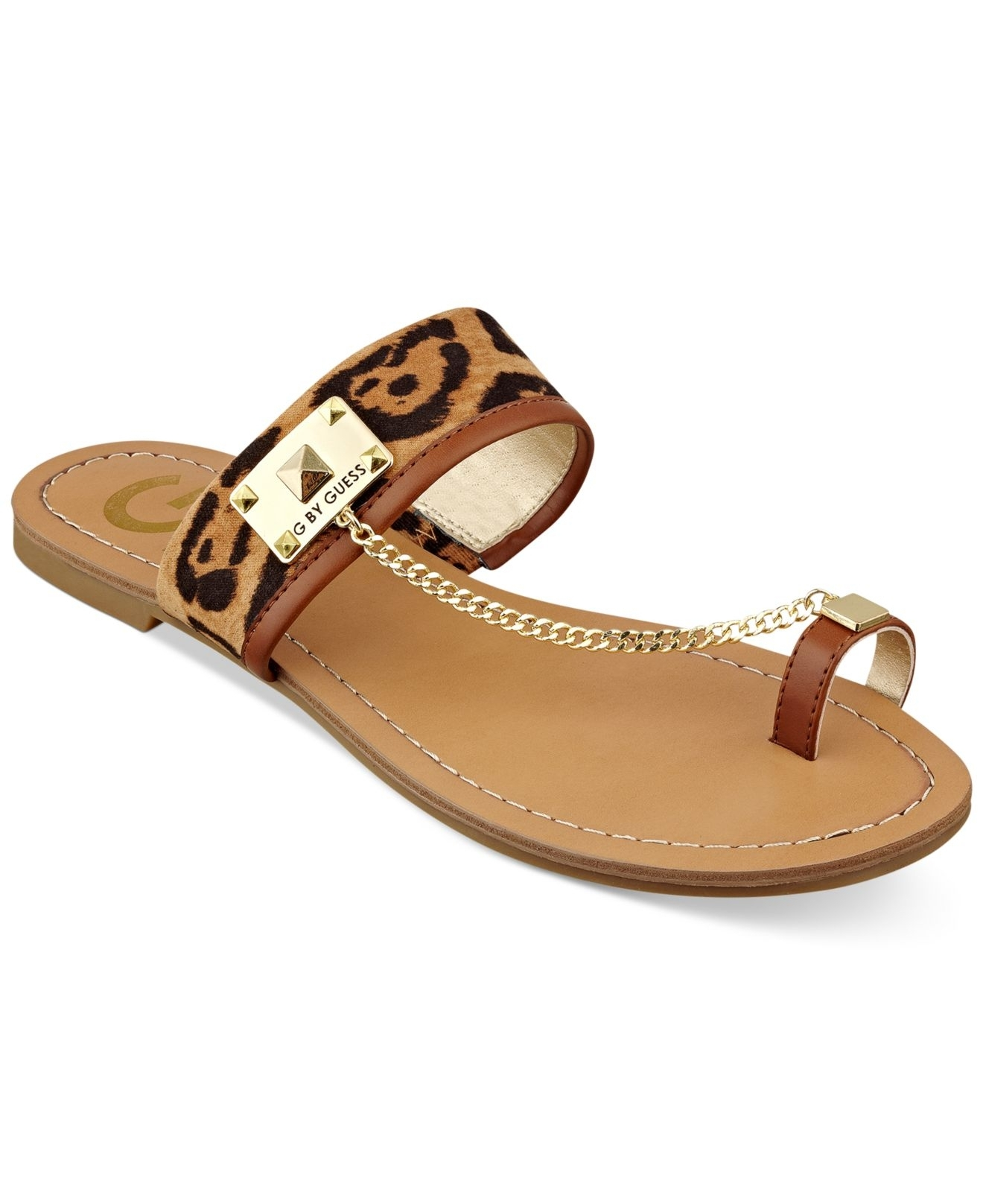 Lyst – Gguess Women's Lucia Toe Ring Flat Sandals Inside Recent Macy's Toe Rings (View 9 of 15)