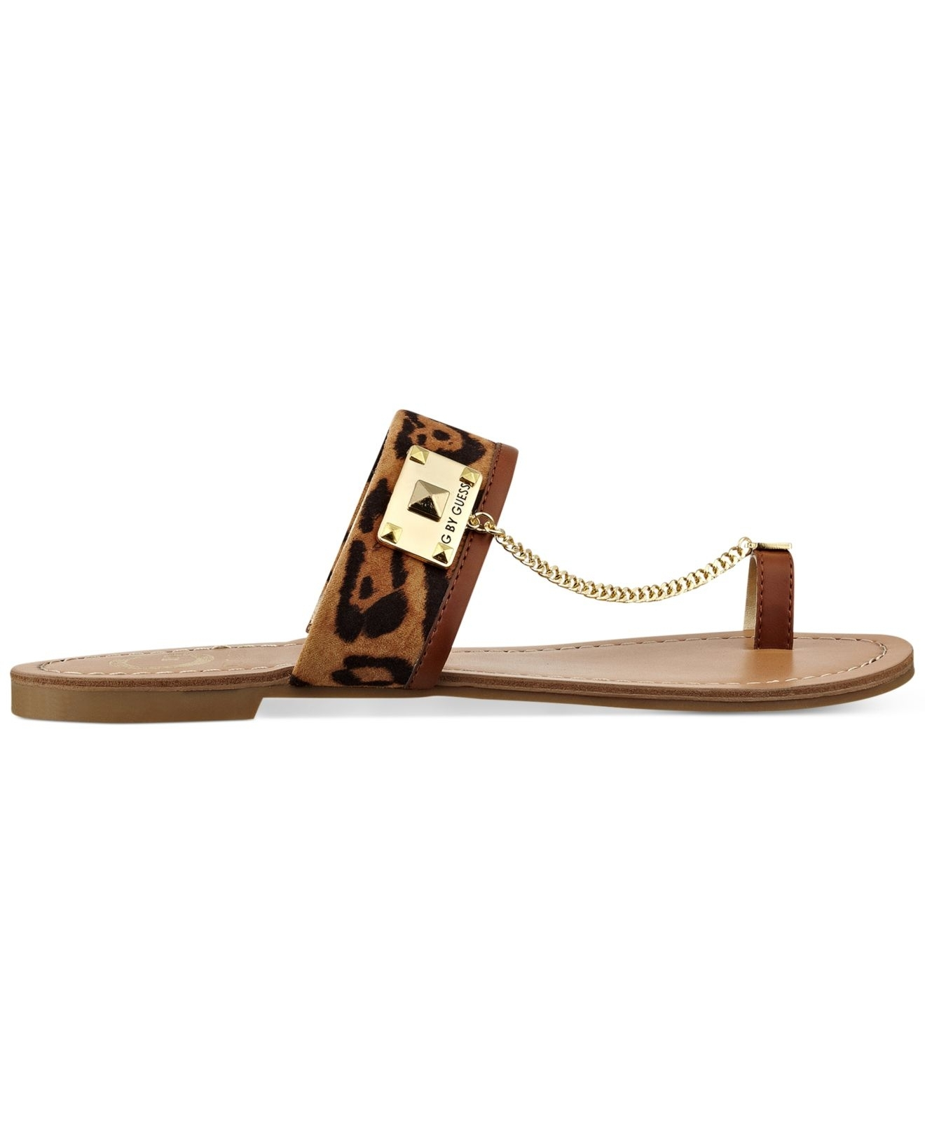 Lyst – Gguess Women's Lucia Toe Ring Flat Sandals Pertaining To Most Popular Macy's Toe Rings (View 10 of 15)