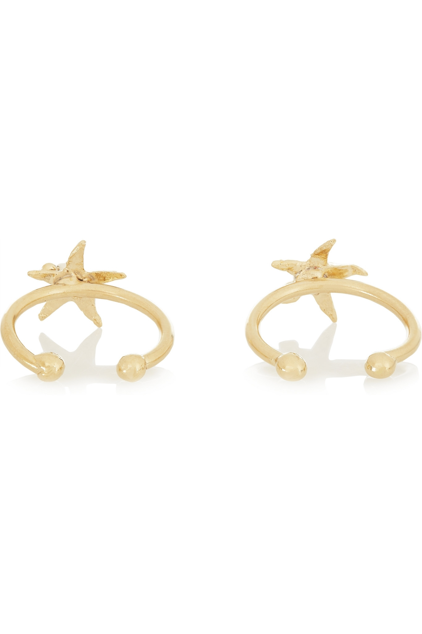 Lyst – Rosantica Profondo Set Of Two Gold Tone Pearl Toe Rings In Pertaining To Most Popular Pearl Toe Rings (View 11 of 15)