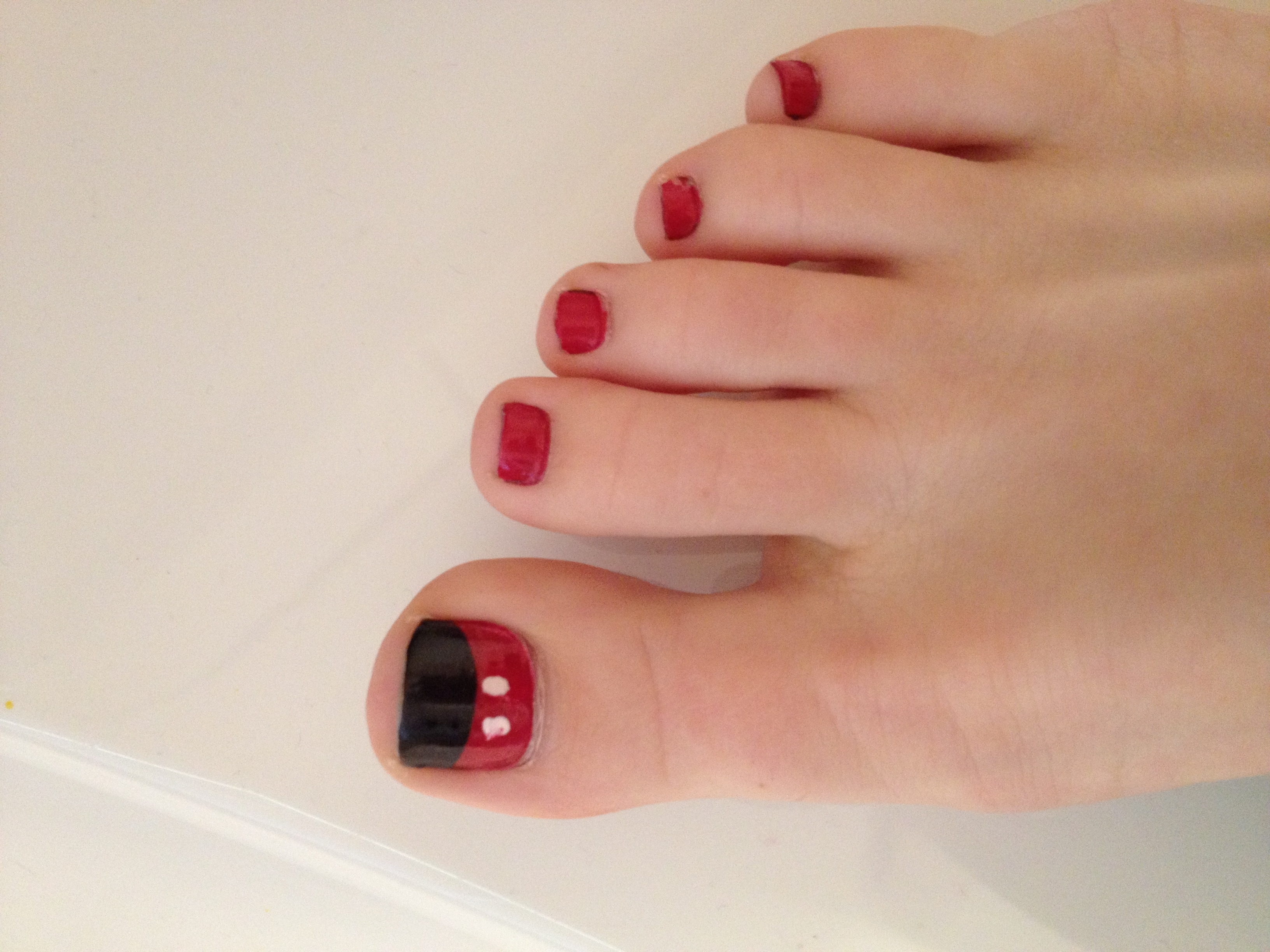 Mickey Mouse Toenails | Make Up | Pinterest | Disney Nails, Nail Throughout Most Up To Date Mickey Mouse Toe Rings (View 10 of 15)