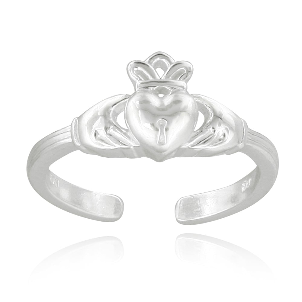 Mondevio Sterling Silver Claddagh Toe Ring – Free Shipping On For 2018 Claddagh Toe Rings (Gallery 10 of 15)