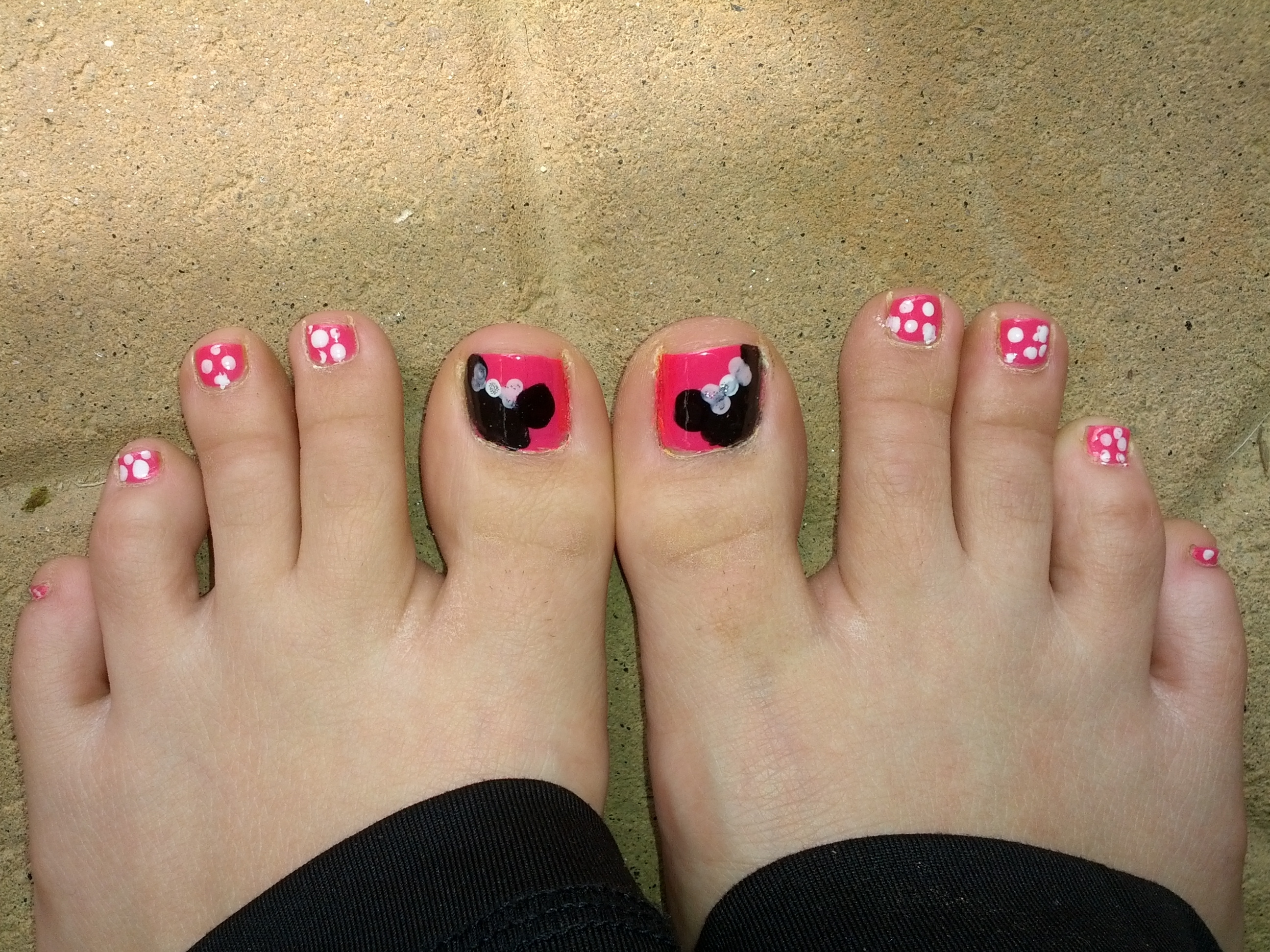 Nail Art, Toes, Disney, Mini Mouse, Pink, Princess | Nail Art Intended For Current Mickey Mouse Toe Rings (Gallery 9 of 15)