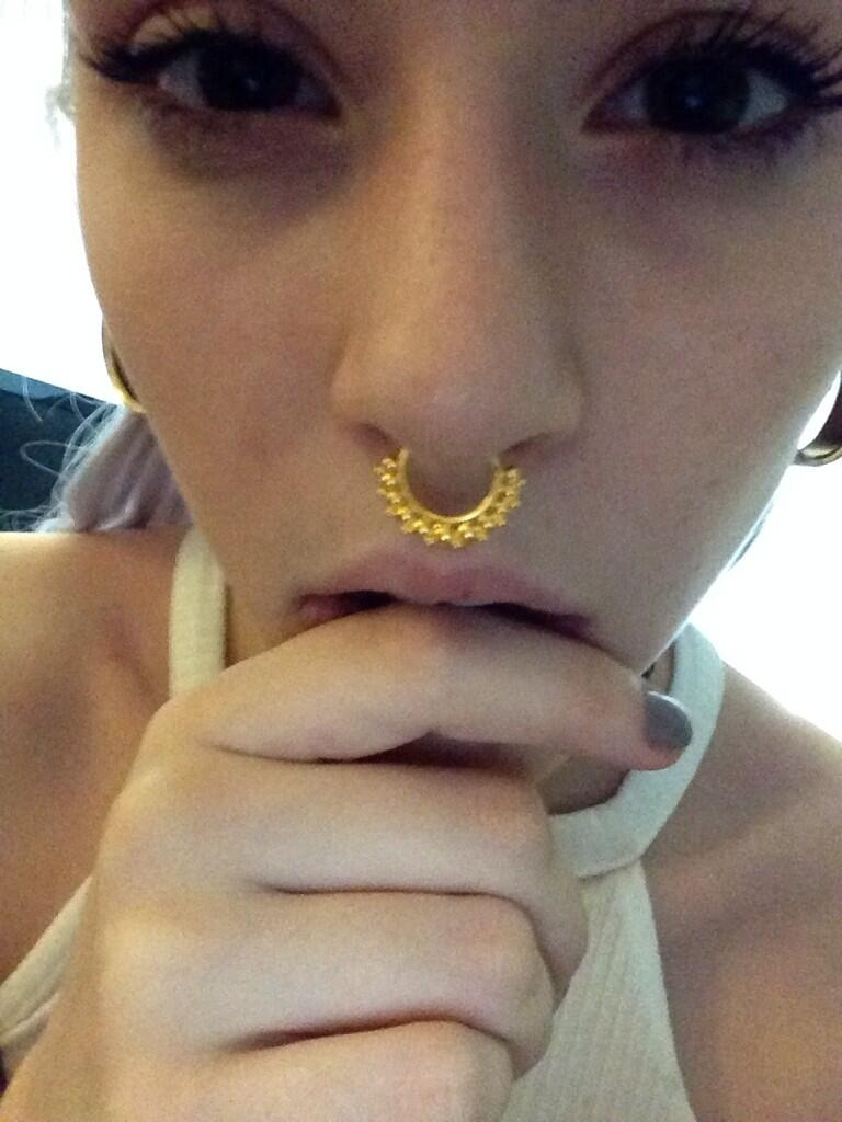 Nancy Steiner On | Septum Nose Rings, Septum And Piercings Pertaining To Most Recently Released Chevron Septum Rings (Gallery 15 of 15)