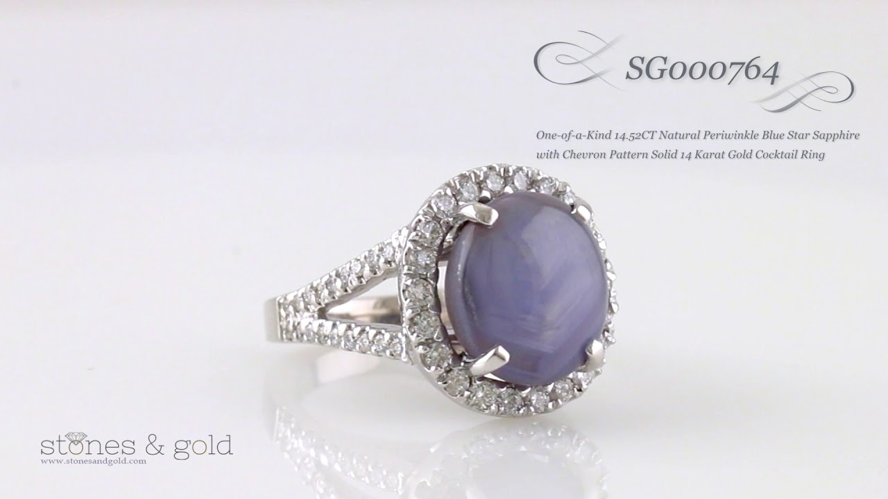 Natural Periwinkle Blue Star Sapphire With Chevron Pattern Solid In Most Up To Date Chevron Sapphire Rings (View 7 of 15)