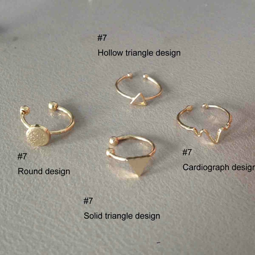Online Shop New Designer Copper Metal Shiny Gold Fashion Regarding Newest Gold Toe Rings (Gallery 4 of 15)